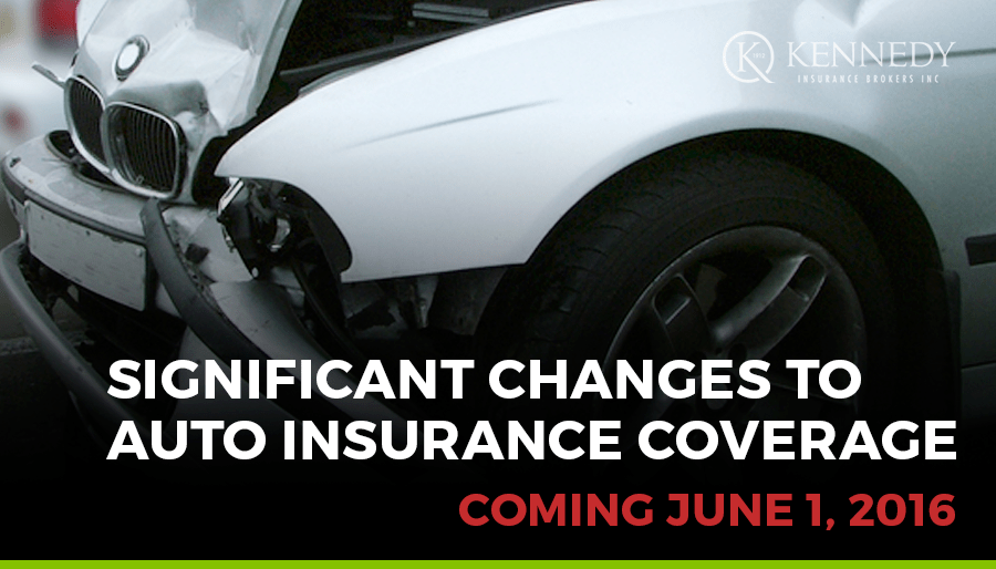 Auto Insurance Changes coming June 1, 2016
