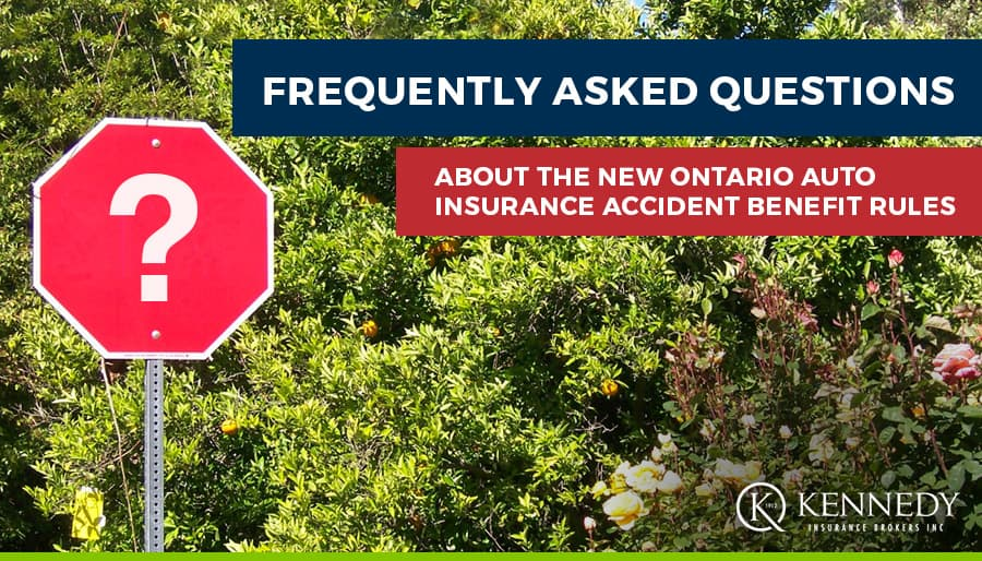 FAQs About the New Ontario Auto Insurance Accident Benefit Rules